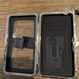 Handbags - Black phone case/wallet
